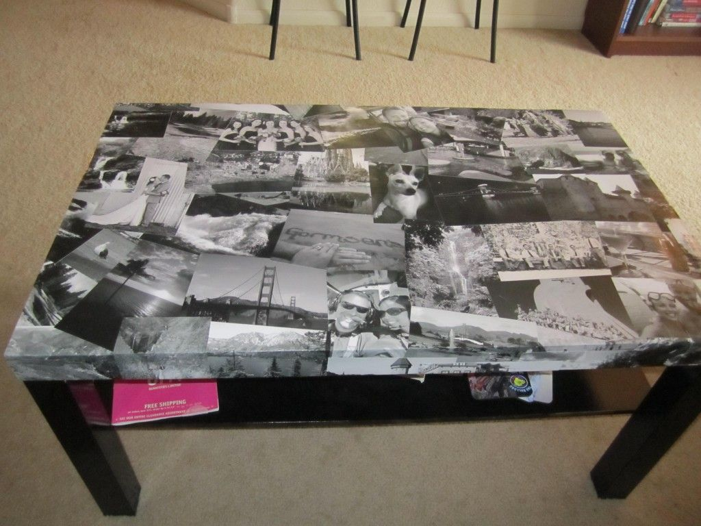 Attractive decoration ideas for old coffee table